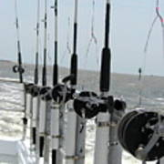 Nags Head Nc Fishing Poles Poster