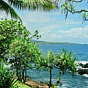 Nahiku Kaelua Hanawi Honolulunui Maui Hawaii Poster