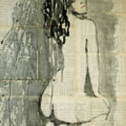 Naked Figure.  Poster