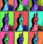 Naked Neck Rooster Warhol Style Poster