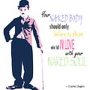 Naked Soul Quote Poster