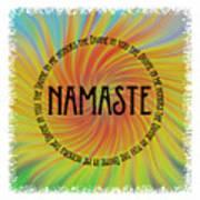 Namaste Divine And Honor Swirl Poster