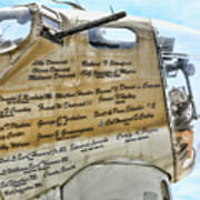 Names On B-17 Poster