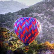 Napa Valley Morning Balloon Poster
