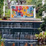 Naples Botanical Waterfall - Refreshing Garden Poster