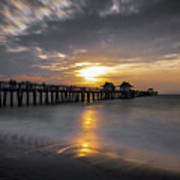Naples Pier At Sunset - Florida, United States - Travel Photography Poster
