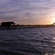 Naples Pier Sundown Poster