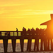 Naples Pier Sunset Poster