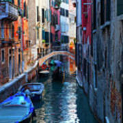 Narrow Canal View Venice Poster