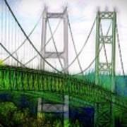 Narrows Bridge Abstract Poster