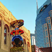 Nashville Boots Neon Sign Poster