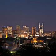 Nashville Cityscape 1 Poster by Douglas Barnett