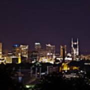 Nashville Cityscape 4 Poster