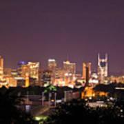 Nashville Night Scene Poster