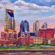 Nashville Skyline Painting Poster