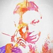 Nat King Cole Watercolor Poster