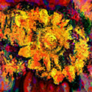 Natalie Holland Sunflowers Poster