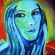 Natasha In Blue Poster by Pilar  Martinez-Byrne