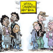 National Conversation About Race Poster