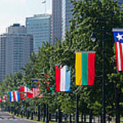 National Flags Of Various Countries Poster
