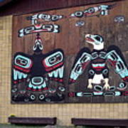 Native Alaskan Mural Poster