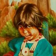 Native American Girl Poster
