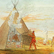 Native American Indian Sweat Lodge Poster by Science Source