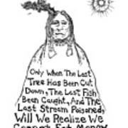Native American Proverb Drawing Poster