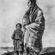 Native American Squaw And Child Poster