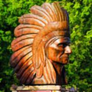 Native American Statue Poster