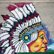 Native American Wall Mural Cheyenne Wyoming Poster