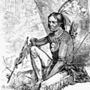 Native American With Pipe Poster