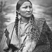 Native American Woman War Chief Pretty Nose Poster