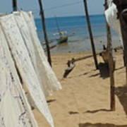 Native Beach Scene Poster