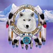Native Indian Wolf Spirit Poster