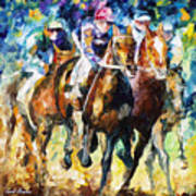 Native Raiser - Palette Knife Oil Painting On Canvas By Leonid Afremov Poster