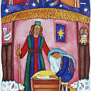 Nativity With Angels Poster