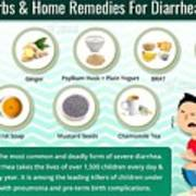 Natural Home Remedies For Diarrhea In Kids And Adults Poster