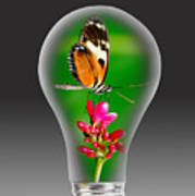 Nature Power Bulb. Poster