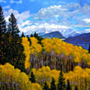 Natures Patterns - Rocky Mountains Poster