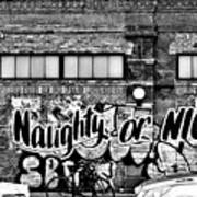 Naughty Or Nice In B W Poster