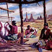 Navajo Weavers Poster