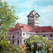 Navarro County Courthouse Poster