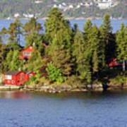 Navigating The Hjeltefjorden In Hordaland Poster