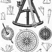 Navigational Instruments, E.g. Sextant Poster