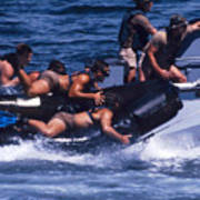 Navy Seals Practice High Speed Boat Poster