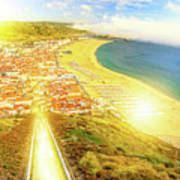 Nazare Skyline Sunset Poster