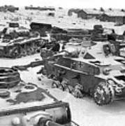Nazi Tanks On The Outskirts Of Stalingrad 1942 Poster