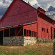 Nc Red Barn Poster