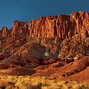 Near The Fluted Wall In Capitol Reef National Park Utah Poster